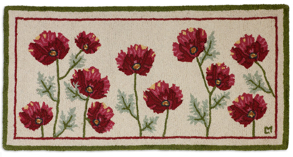 Poppy Profusion - Hooked Wool Rug