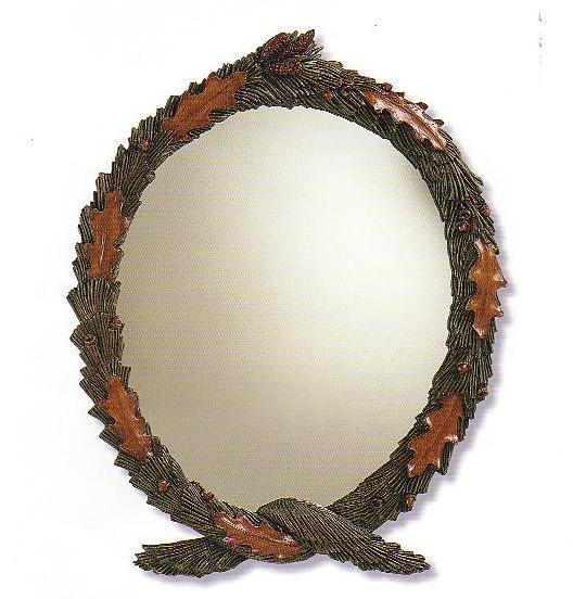 Pine and Oak Wreath Mirror
