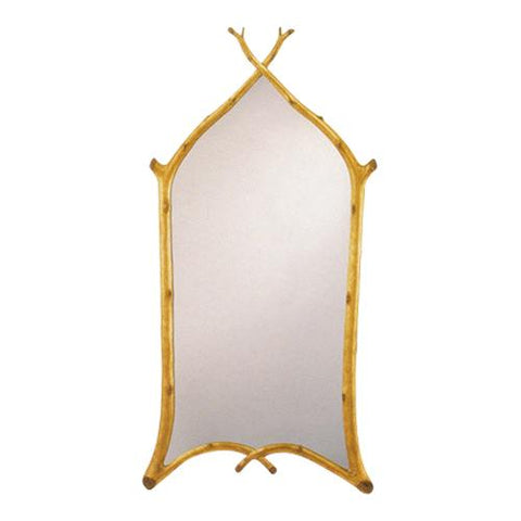 """Gothic Twig"" Mirror (Gold Leaf)"