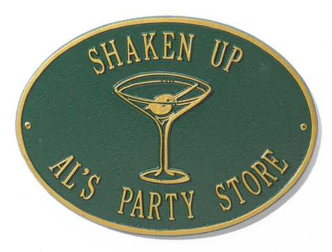 Customized Martini Deck or Bar Sign