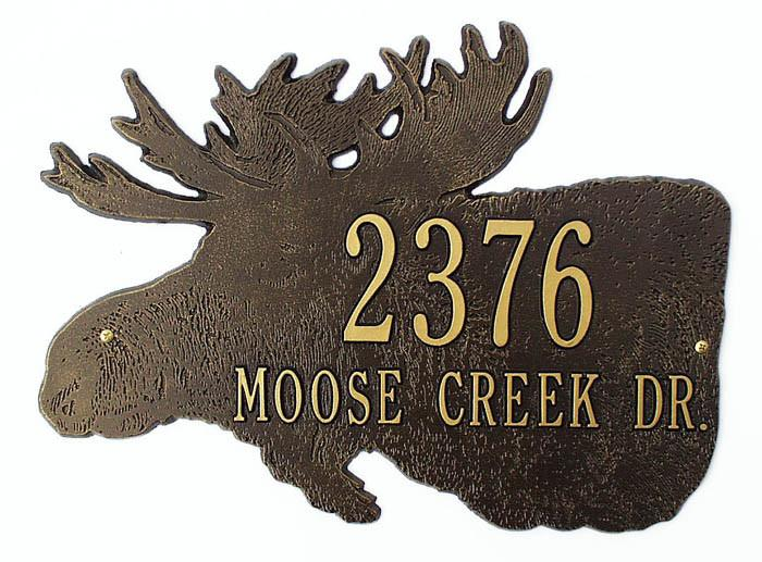 Moose Address  or Name Plaque