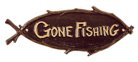 Gone Fishing Wall Sign