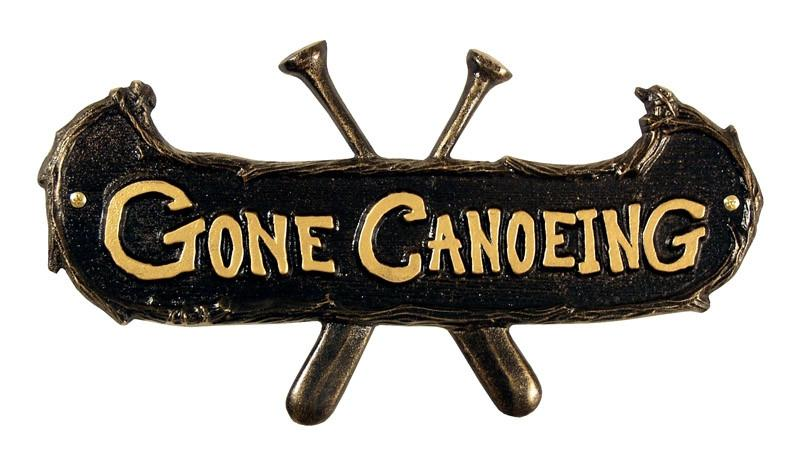 Gone Canoeing Wall Sign