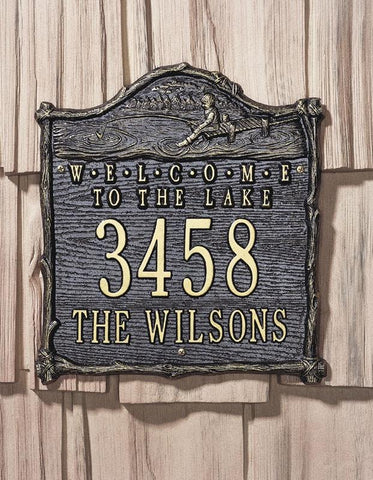 Welcome to the Lake Personalized Address Plaque