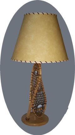Huron Table Lamp with 2 Snowshoes