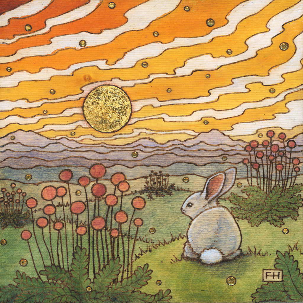 "Fay Helfer ""Bunny in the Hills"" Paper Print"