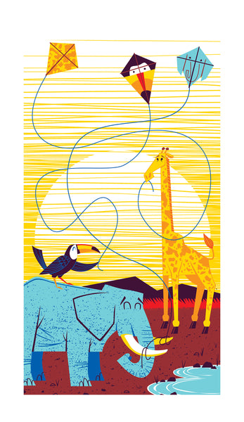 "Doug LaRocca ""Land Animal Kites"" Print"