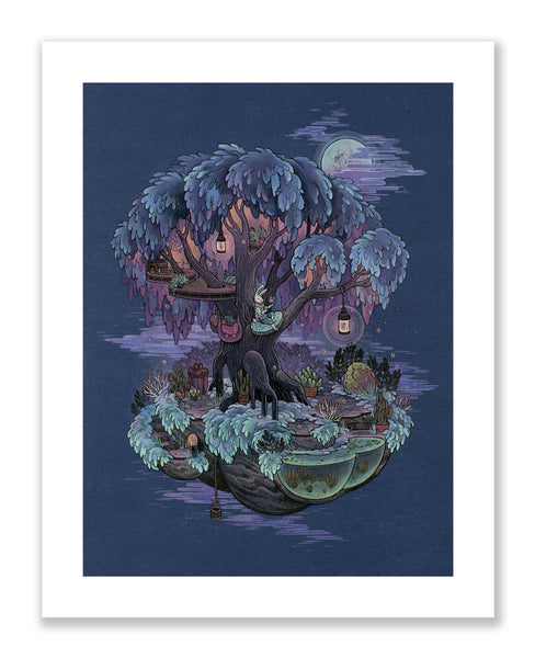 """Firefly Treehouse"" Print"