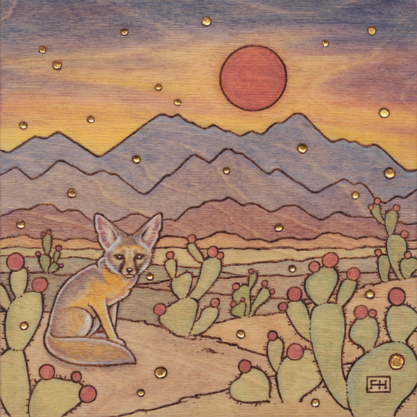 "Fay Helfer ""Kit Fox in the Desert"" Paper Print"