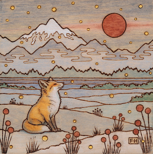 "Fay Helfer ""Red Fox in the Snow"" Paper Print"
