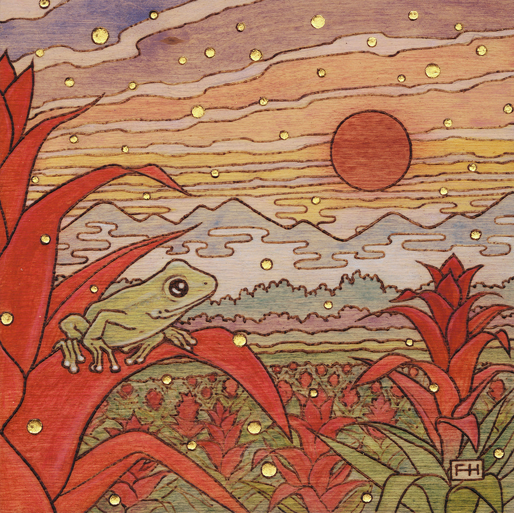 "Fay Helfer ""Frog in the Valley"" Paper Print"