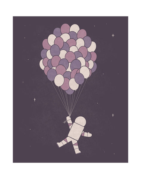 """Space Balloons"" Print"