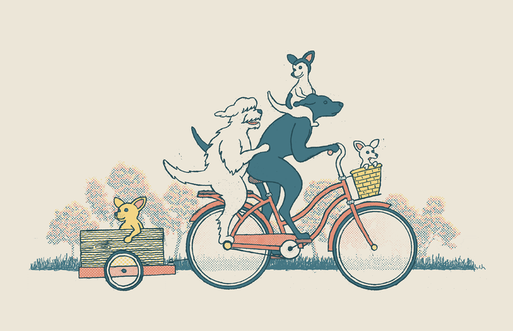 "Jake Fyfe ""Best Friends Bike Ride"" Print"