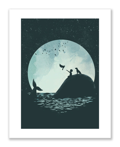 """The Boy and the Whale"" Print (Large)"