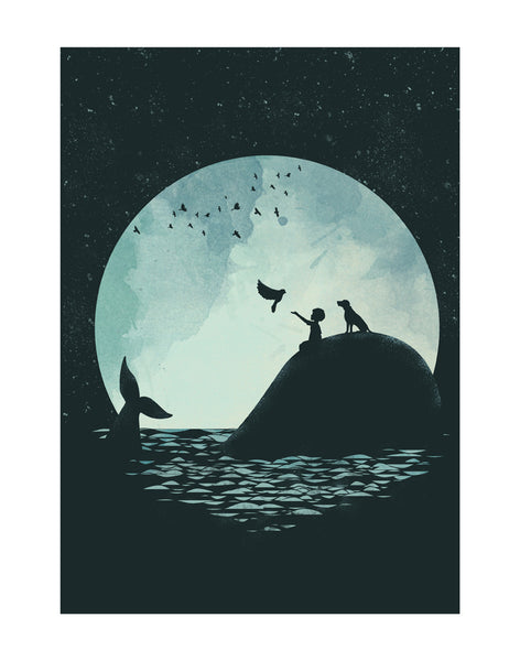 """The Boy and the Whale"" Print"