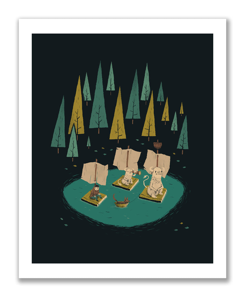 """At the Lake"" Print"