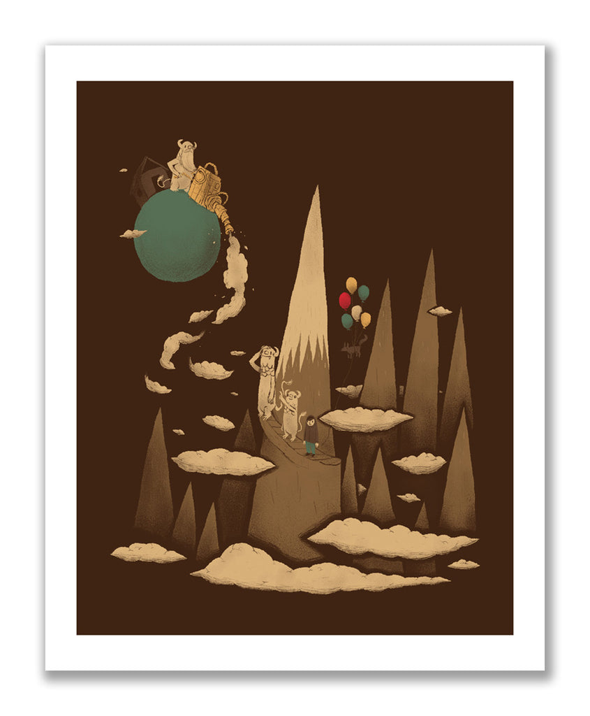 """Cloud Machine"" Print"