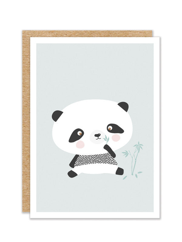 """Panda Bear"" Greeting Card"