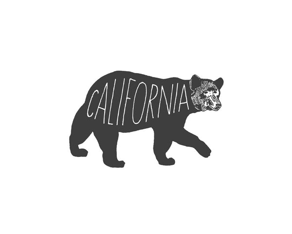 """California Bear"" Print"
