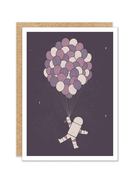 """Space Balloons"" Greeting Card"