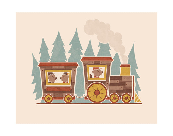 """Woodland Commute"" Print"