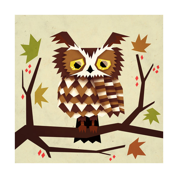"""Great Horned Owl"" Print"
