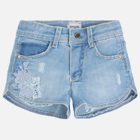 Embroidered Denim Shorts - Paparazzi