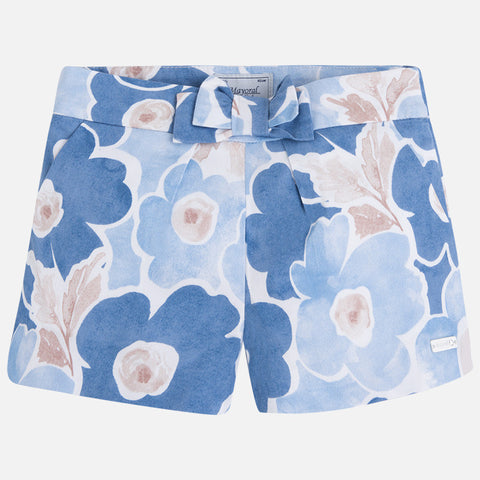 Floral Print Shorts with Bow - Paparazzi