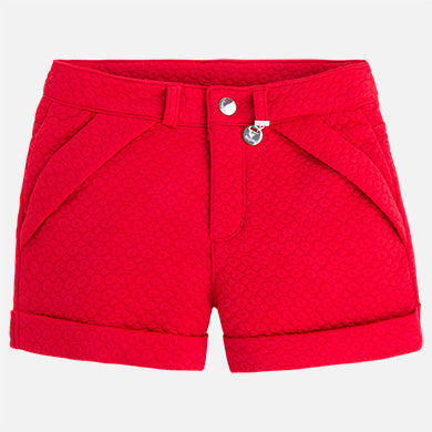 Cuff Red Plush Shorts - Paparazzi