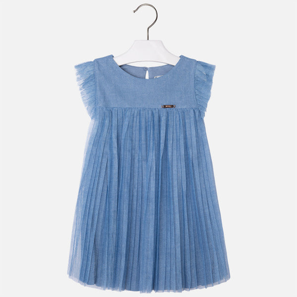 Pleated Blue Dress - Paparazzi