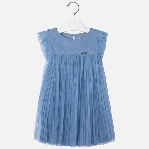 Pleated Denim Dress - Paparazzi