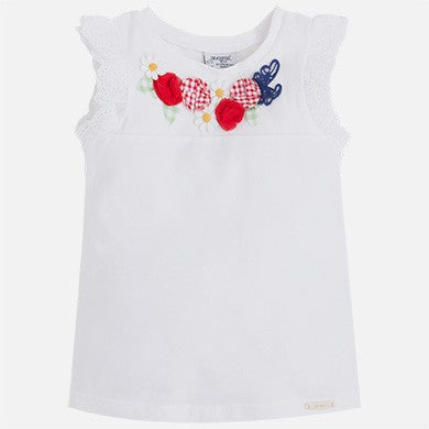 Flower Embroidered Top - Paparazzi