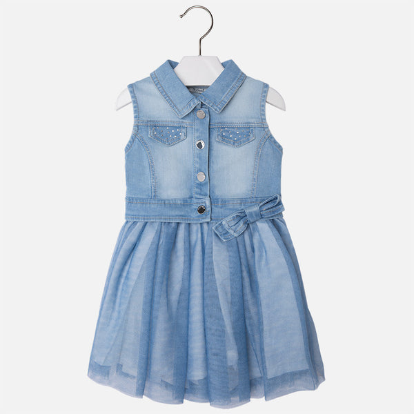Denim and Tulle Dress - Paparazzi