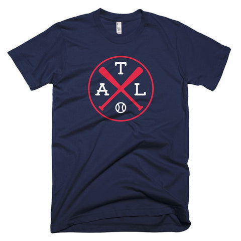 ATL Crossed Bats Baseball T-Shirt - Citizen Threads Apparel Co.