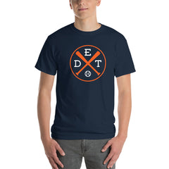 Detroit Crossed Baseball Bats T-Shirt