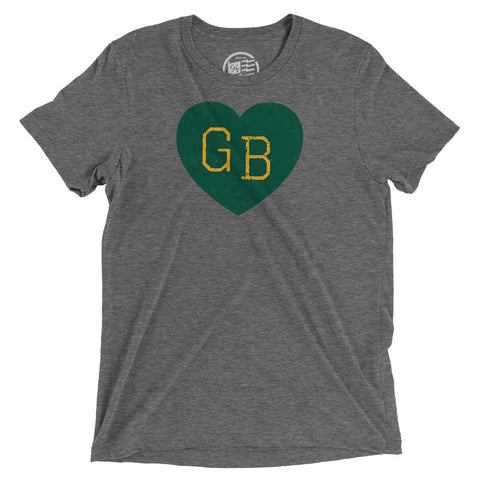 Green Bay Heart T-Shirt - Citizen Threads Apparel Co. - 1