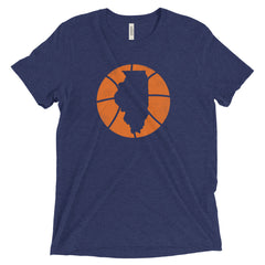 Illinois Basketball State T-Shirt - Citizen Threads Apparel Co. - 1