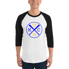 Kansas City Baseball 3/4 Sleeve Raglan Shirt