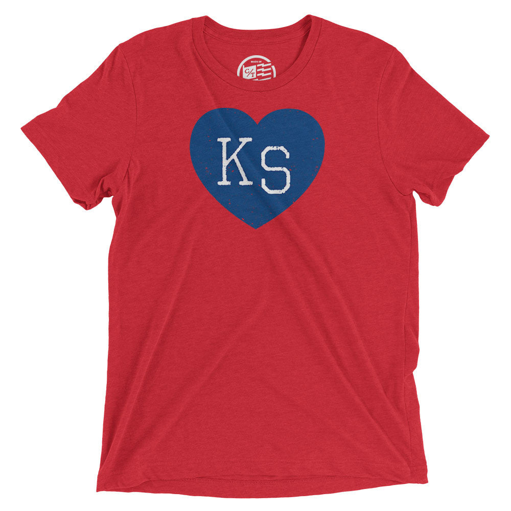 Kansas Heart T-Shirt - Citizen Threads Apparel Co. - 3