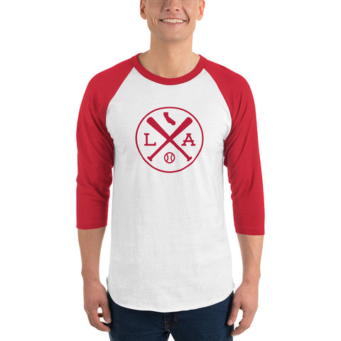 Los Angeles Baseball 3/4 sleeve Raglan