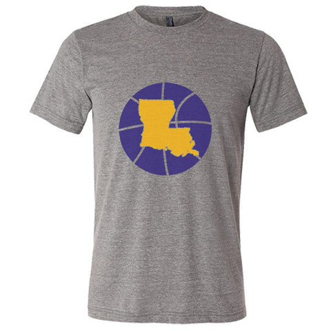 Louisiana Basketball State T-Shirt - Citizen Threads Apparel Co.