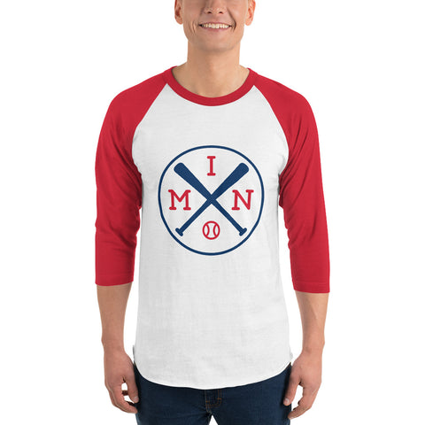 Minnesota Baseball Shirt 3/4 Sleeve Raglan