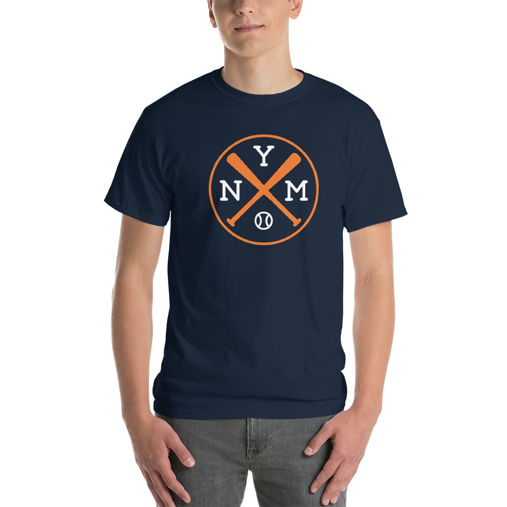 New York NYM Crossed Baseball Bats T-Shirt