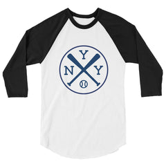 New York NYY Baseball 3/4 Sleeve Raglan