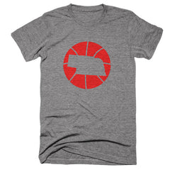 Nebraska Basketball State T-Shirt - Citizen Threads Apparel Co. - 2