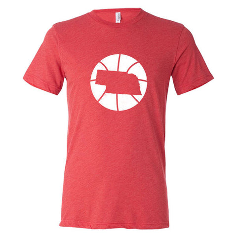Nebraska Basketball State T-Shirt - Citizen Threads Apparel Co. - 1