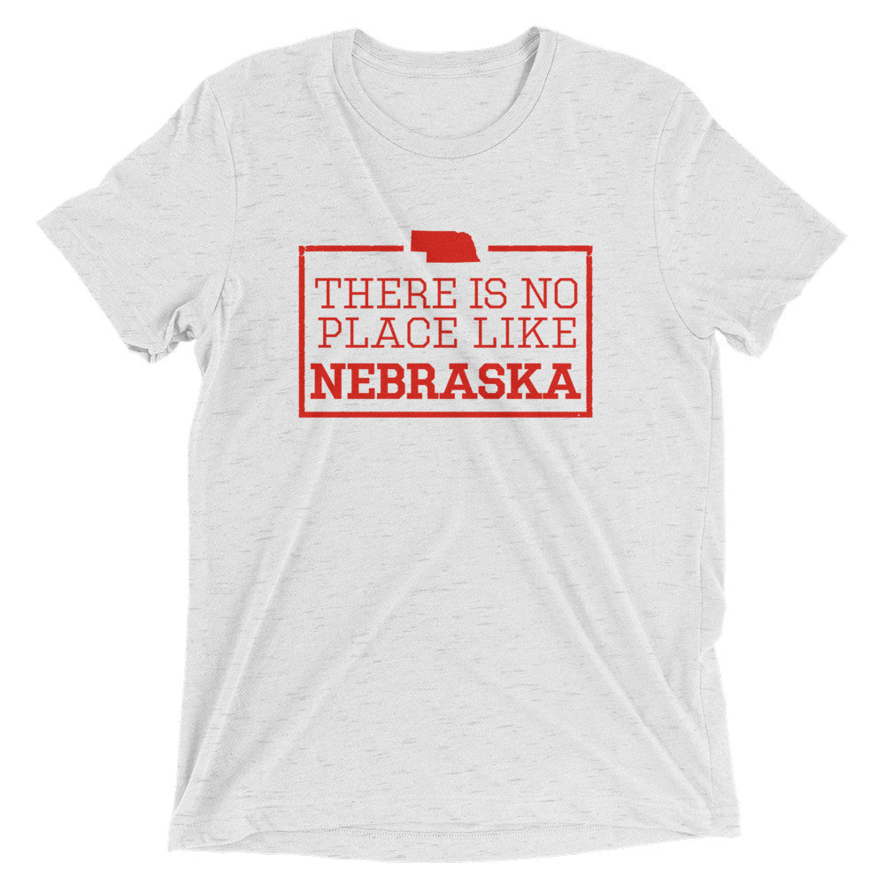 There Is No Place Like Nebraska Triblend Short Sleeve T-Shirt