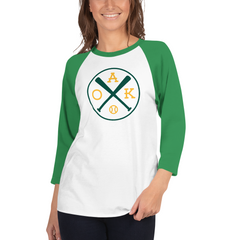 Oakland Baseball Shirt 3/4 Sleeve Raglan