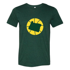 Oregon Basketball State T-Shirt - Citizen Threads Apparel Co. - 1