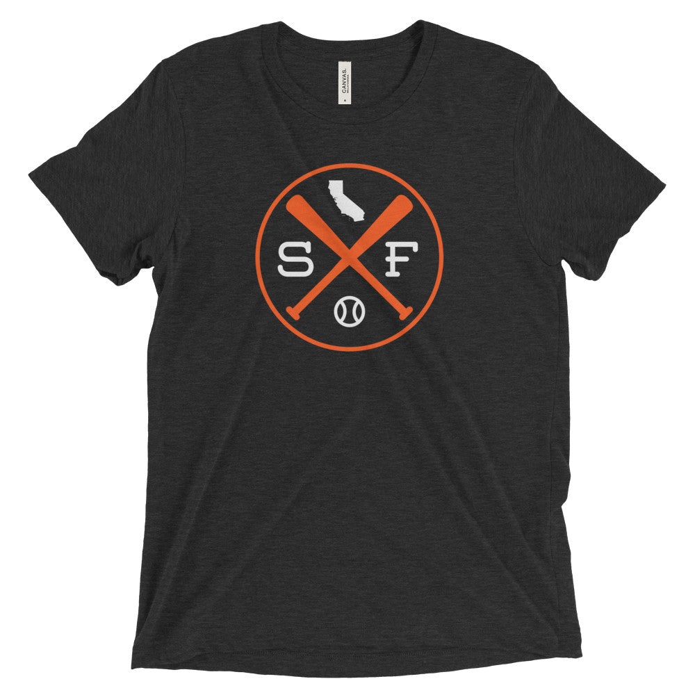 SF Crossed Baseball Bats T-Shirt